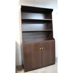 Mueble cubertero de interior de madera color wengue